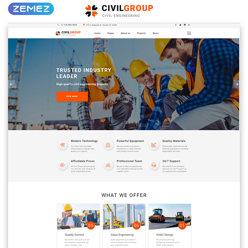 Civil Group - Multipage HTML Template Website Template