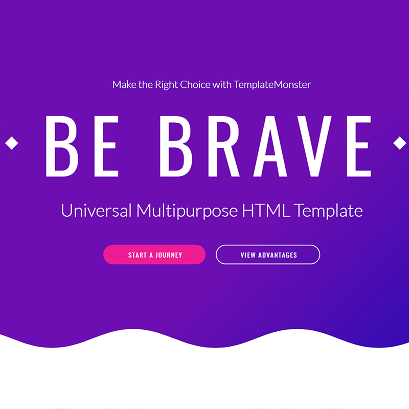 Brave - Responsive Multipurpose Website Template Website Template