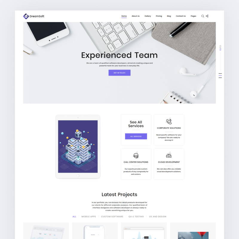 DreamSoft - Software Development Company Multipage Website Template Website Template