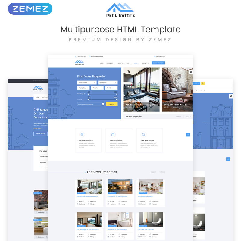 Real Estate - Multipurpose HTML Template Website Template