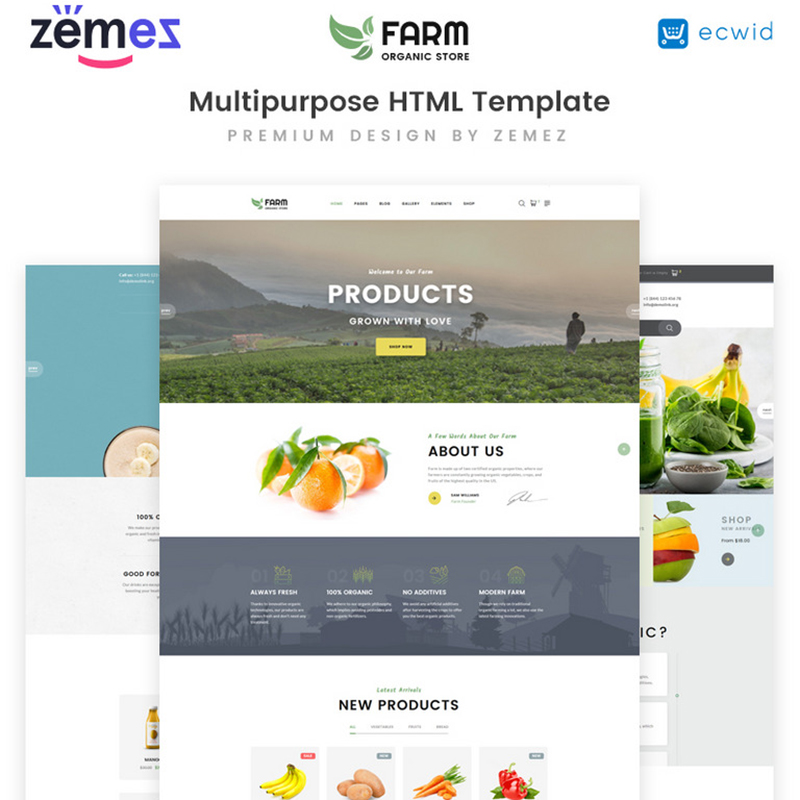 Organic Farm - Multipurpose HTML Template Website Template