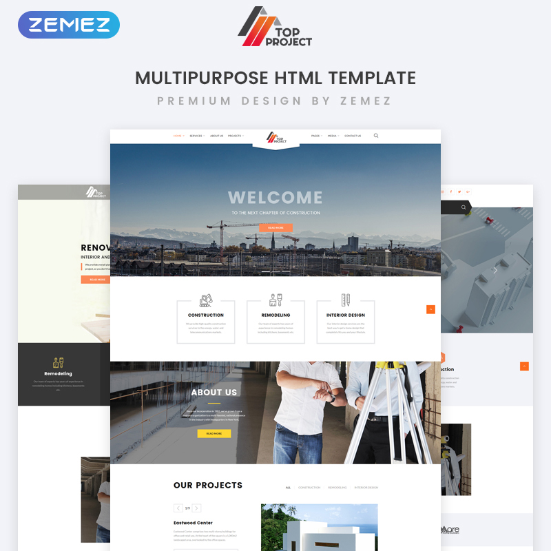 Top Project - Construction Company Multipurpose HTML Template Website Template