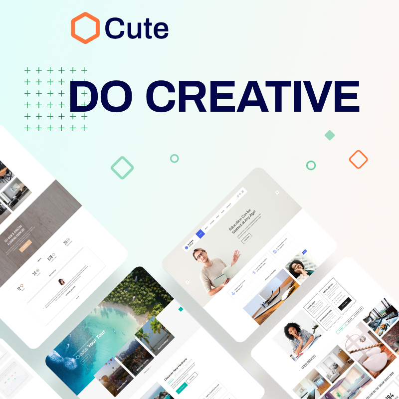 Cute - Universal Multipurpose Creative HTML Website Template Website Template
