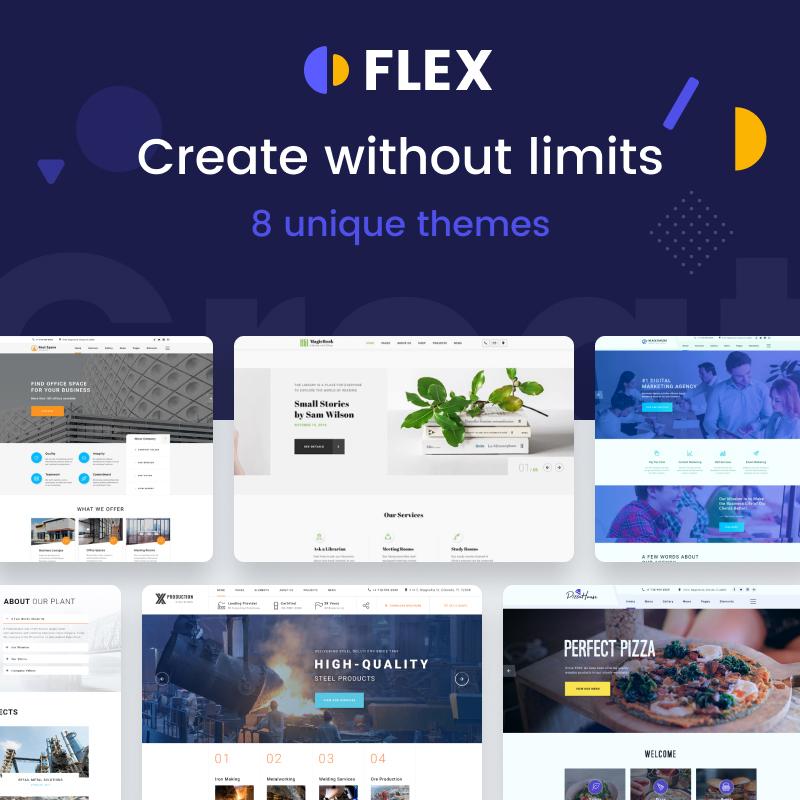 Flex - Universal Multipurpose Creative HTML Website Template Website Template