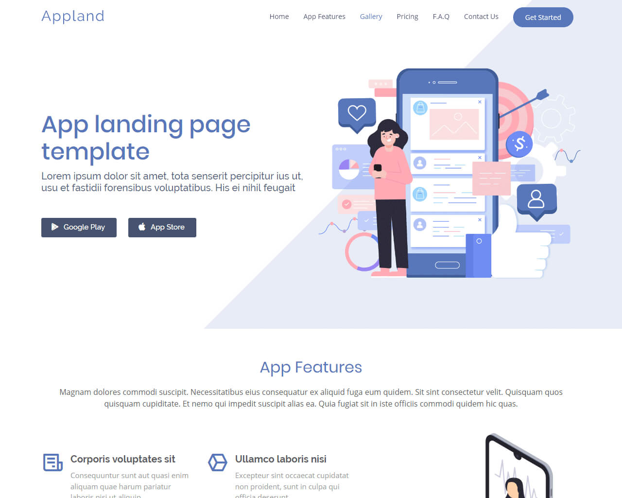 Free App Website free bootstrap app landing page template   bootstraptaste