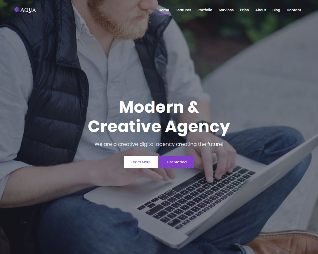 Aqua Website Template