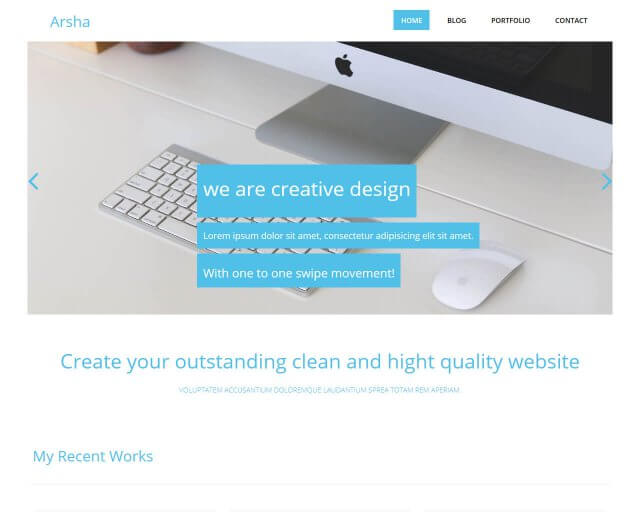 Arsha - Free bootstrap HTML template for corporate