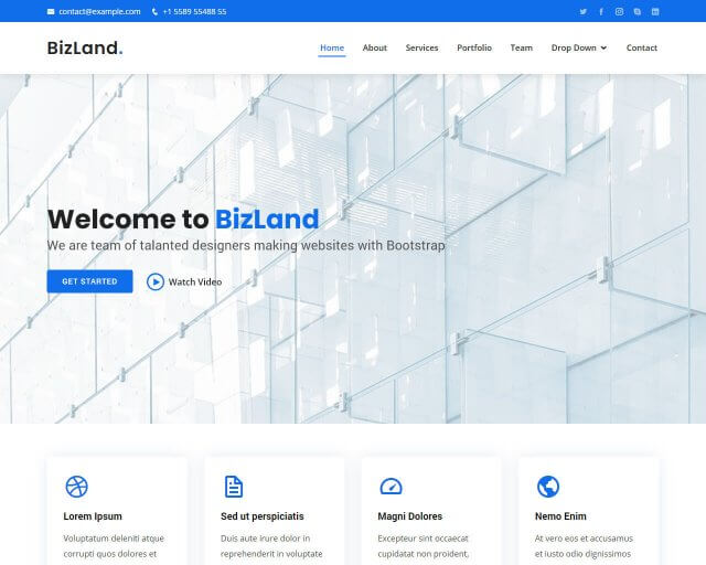BizLand – Bootstrap Business Corporate Template