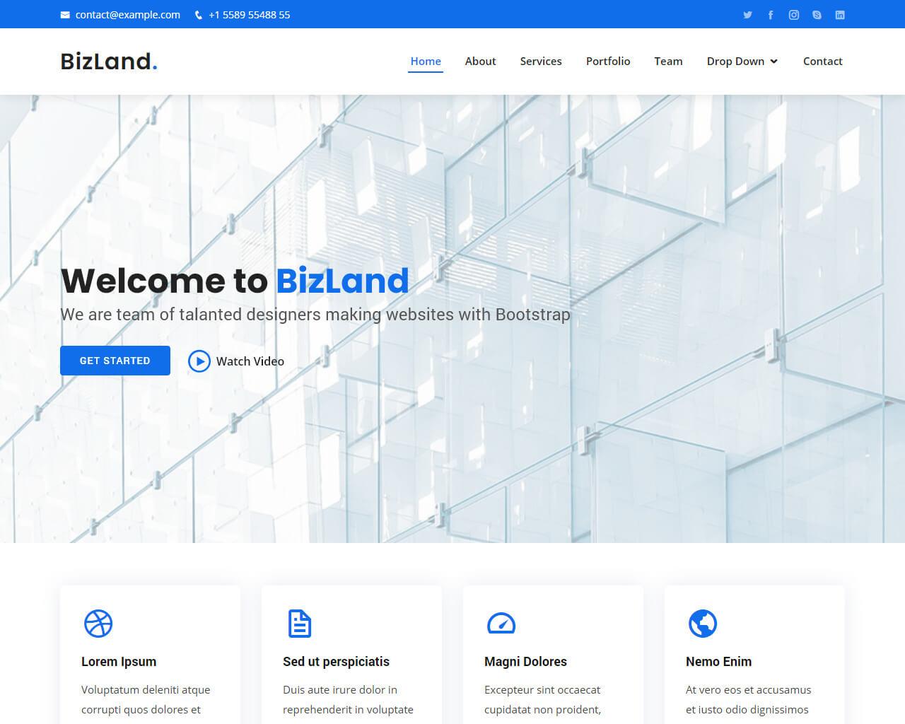 BizLand – Bootstrap Business Corporate Template