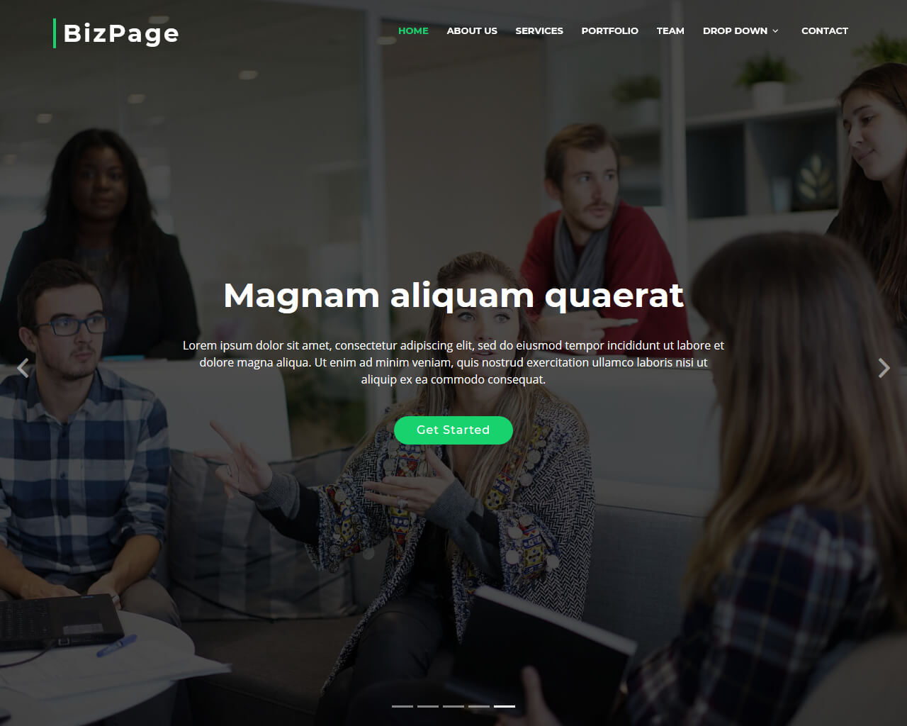 BizPage - Free Bootstrap Business Teplate