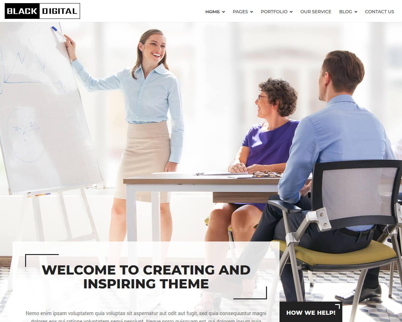 Black Digital Website Template