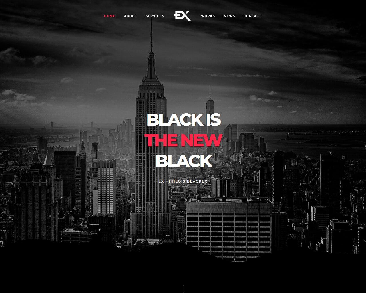 Blackex Website Template