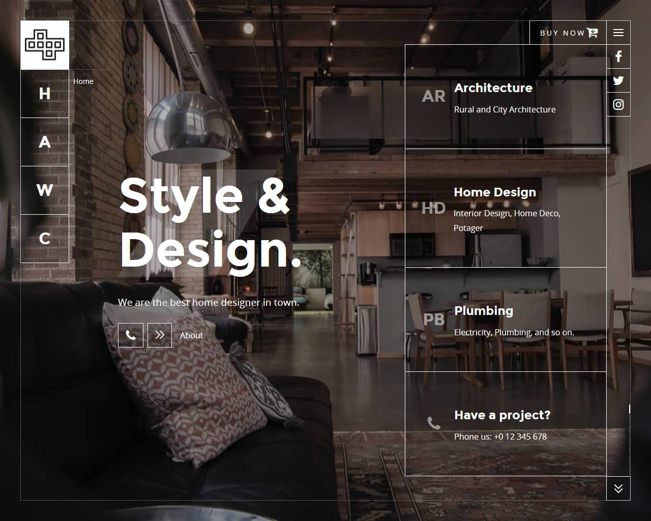 Brainux Website Template