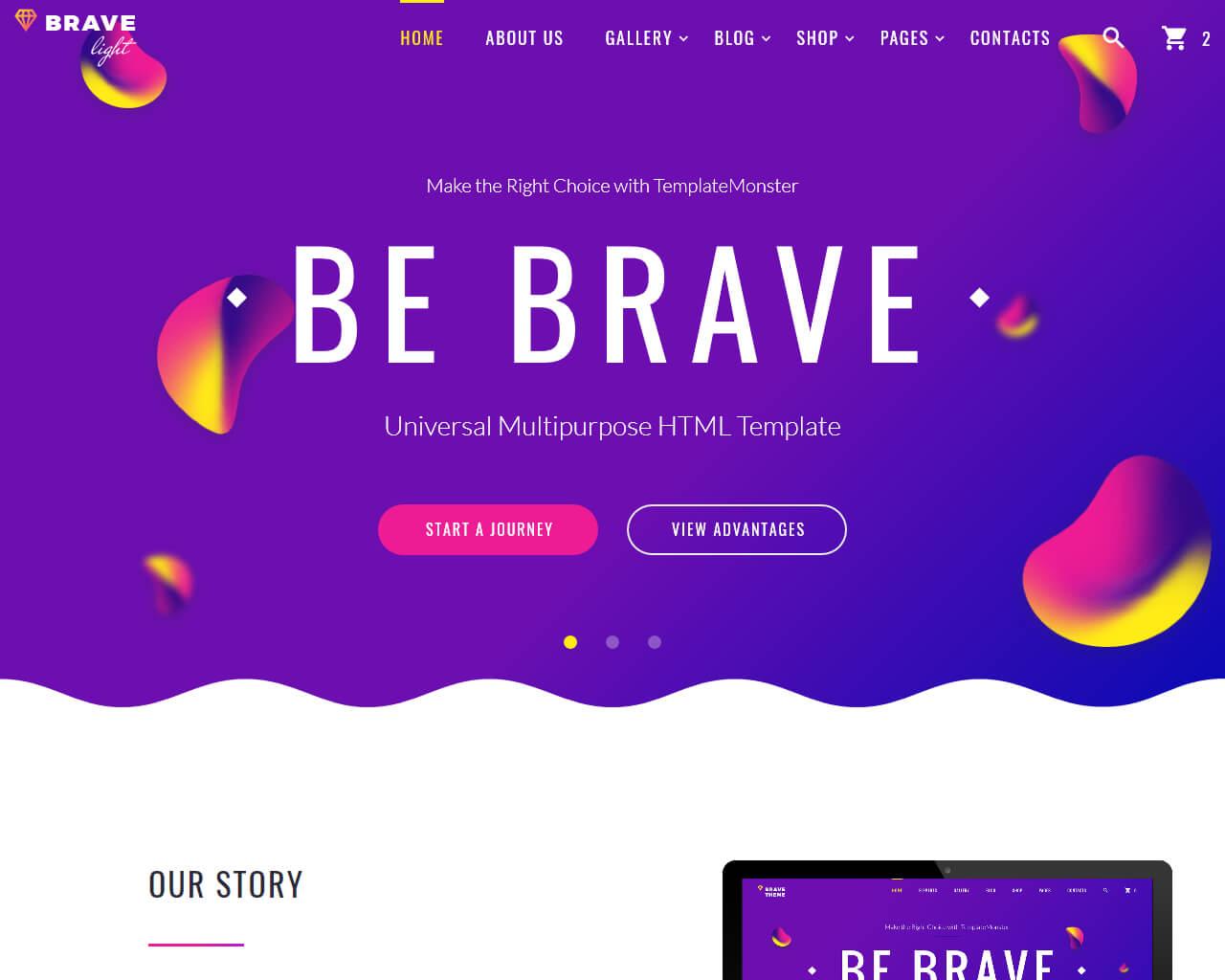 Brave Light Website Template
