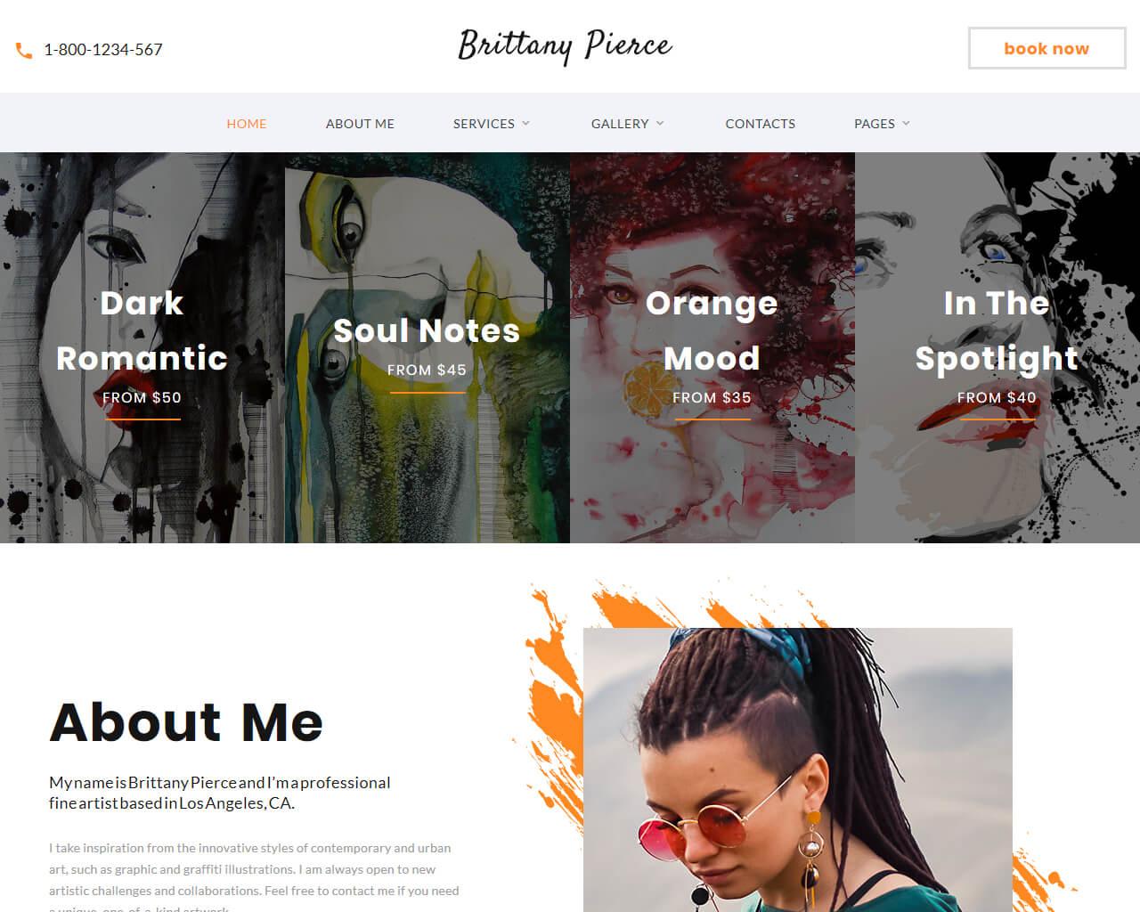 Brittany Pierce Website Template