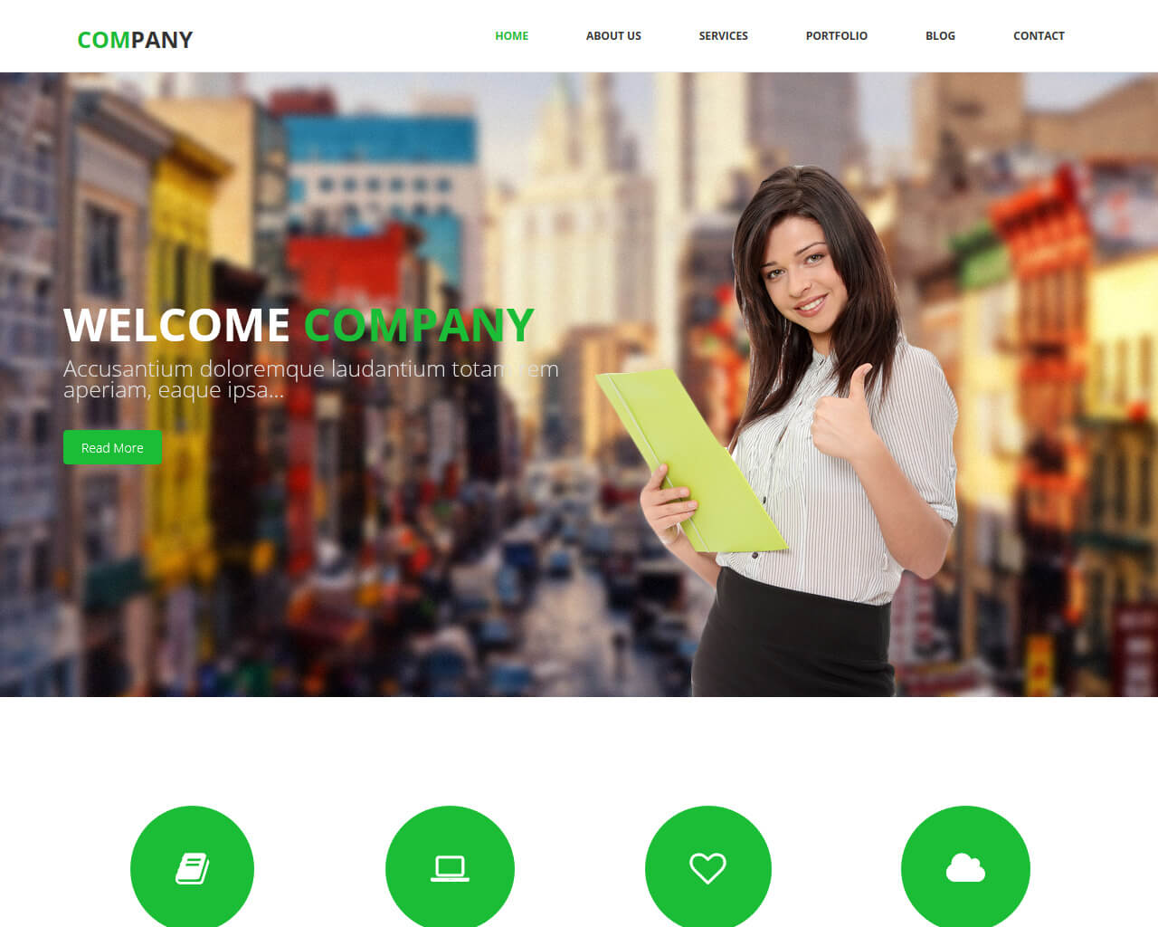 The Company Is A Responsive And Spotless Html Template For Business Corporate Websites It Also Recommended Portfolio Any Sort Of