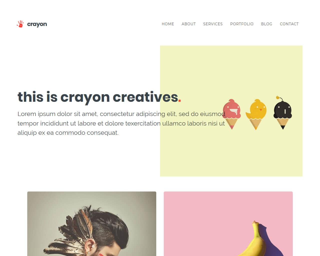 Crayon Website Template
