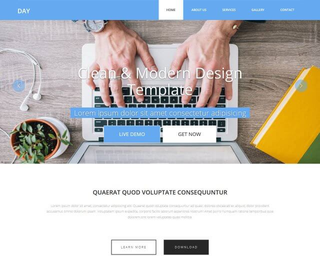Day - Multipurpose HTML Template for Free