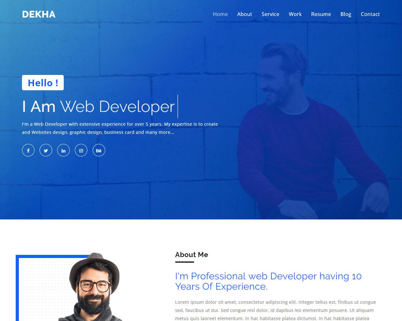Dekha Website Template