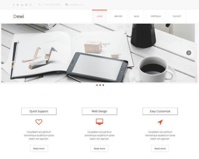 Dewi - Free Multi Purpose HTML Template