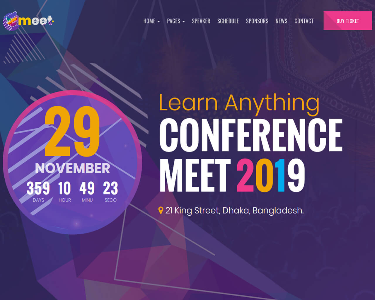 Emeet Website Template