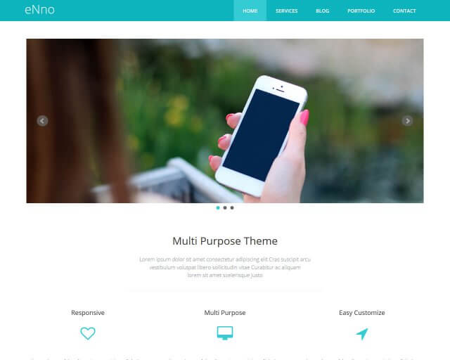 eNno - Free Simple Bootstrap Template