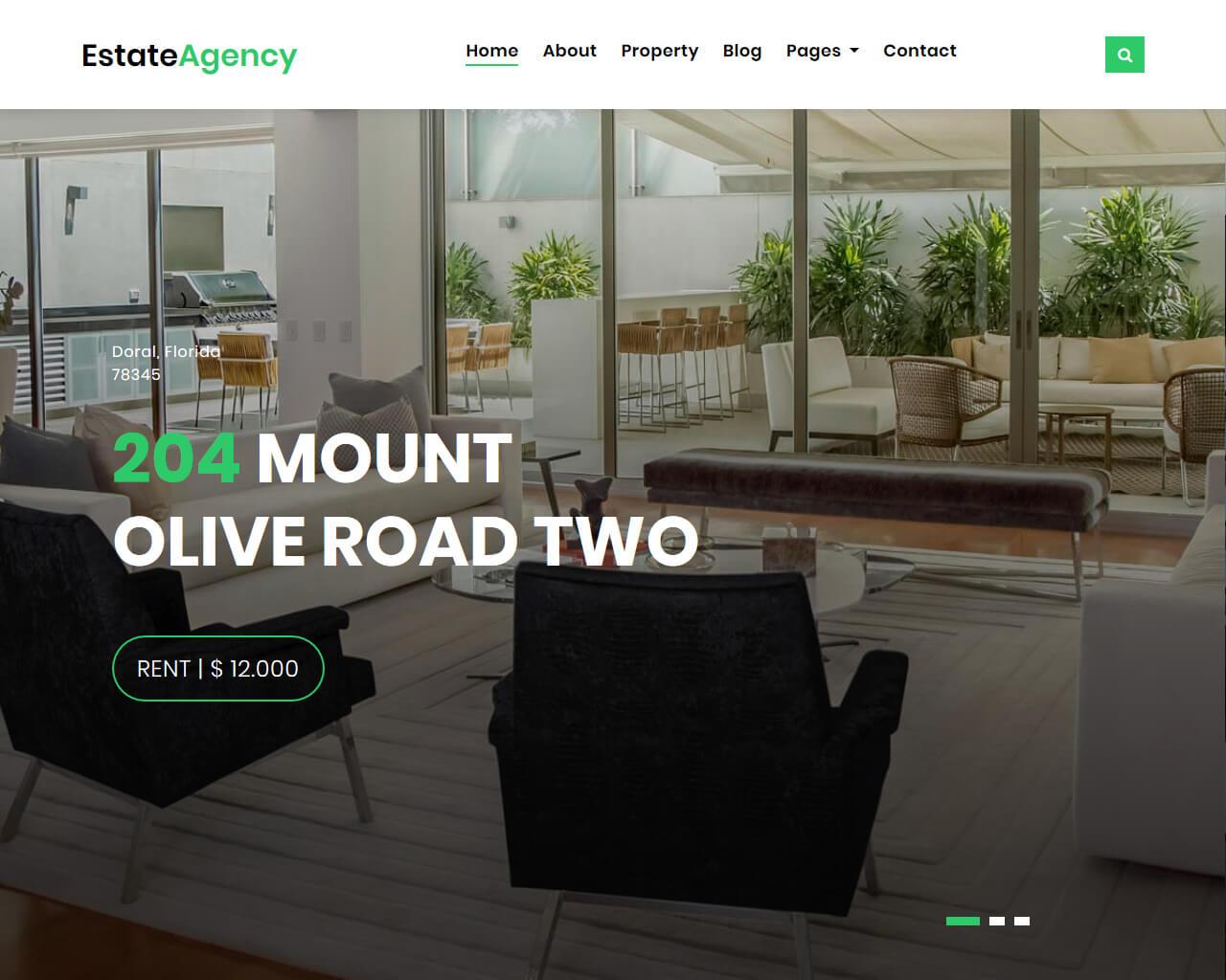EstateAgency – Free Real Estate Website Template