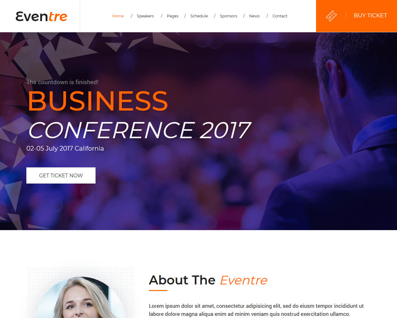 Eventre Website Template