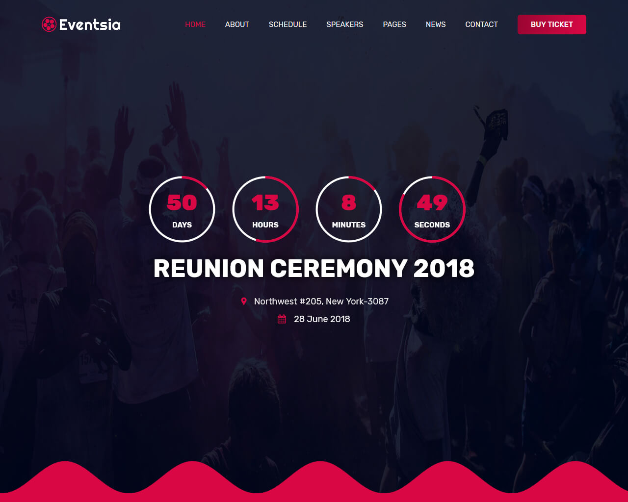 Eventsia Website Template