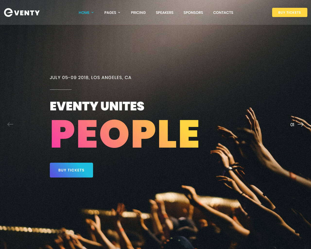 Eventy Website Template