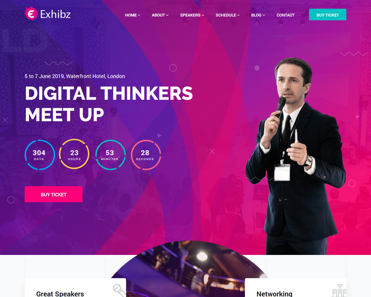 Exhibz Website Template