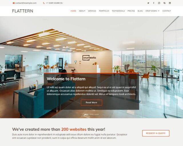 Flattern – Free Bootstrap Business Template