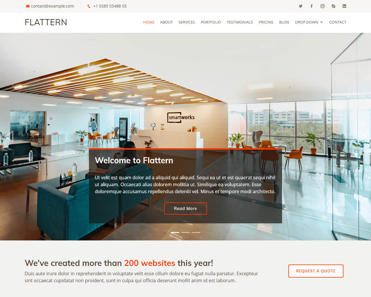 Flattern – Free Bootstrap Business Template