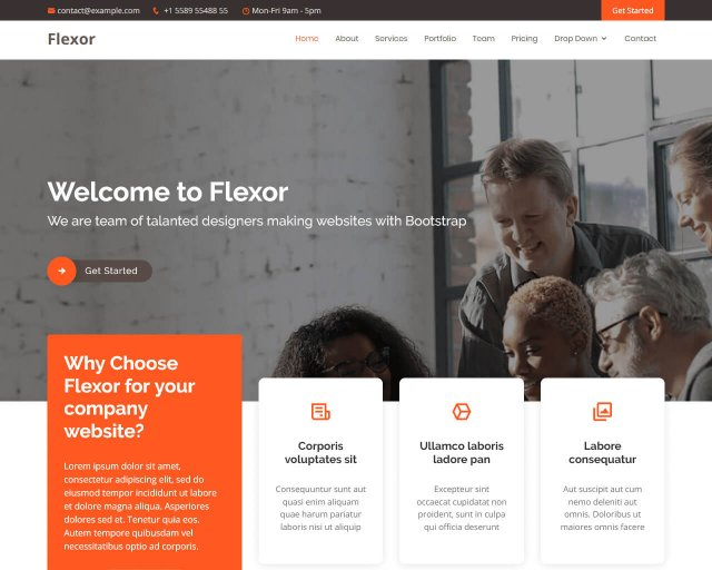 Flexor – Multipurpose Bootstrap Theme