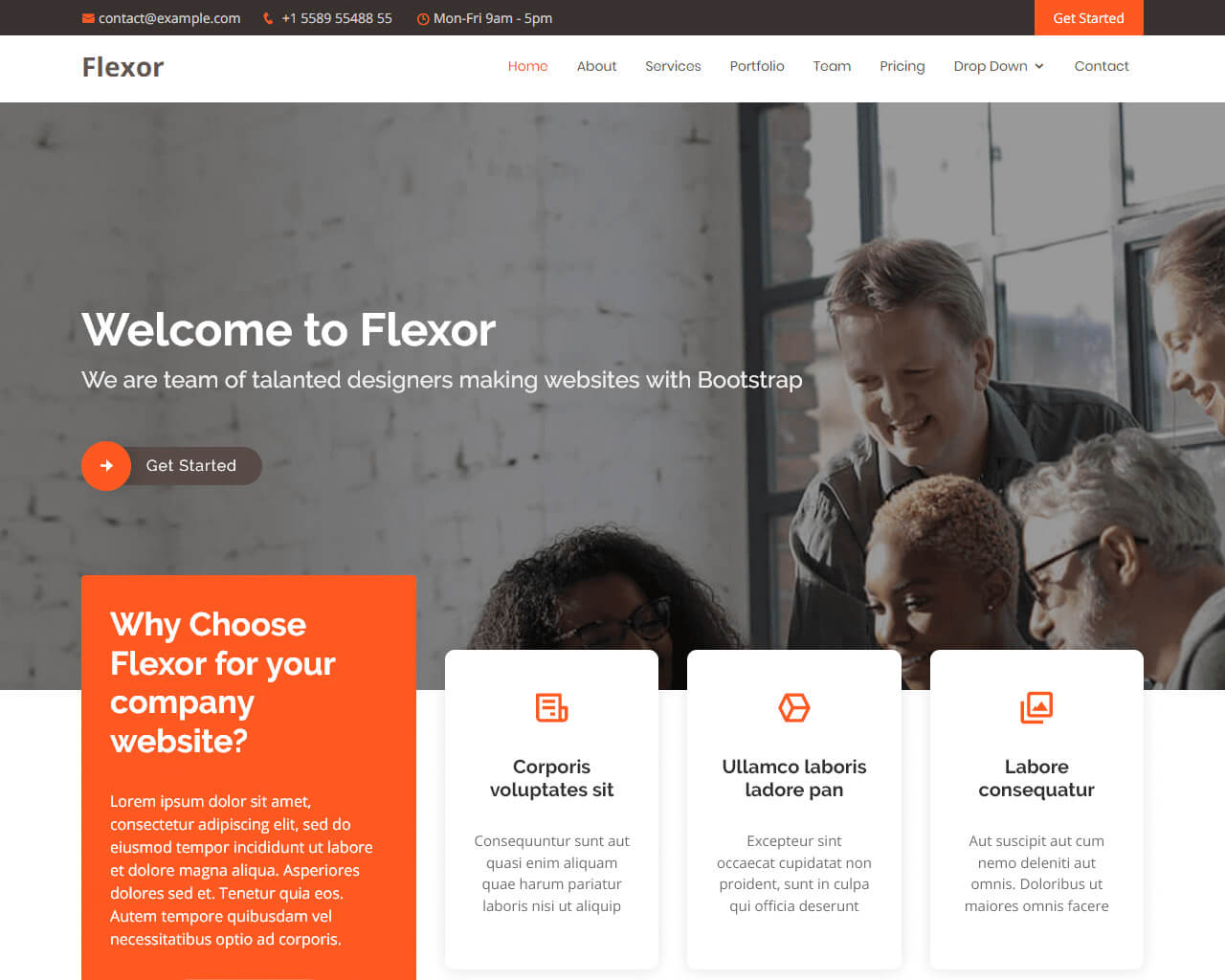 Flexor – Multipurpose Bootstrap Theme