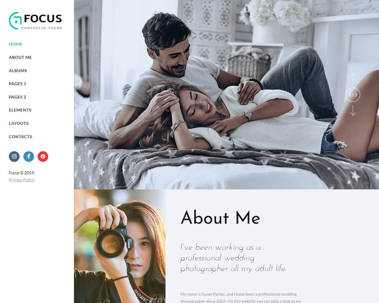 Focus Website Template