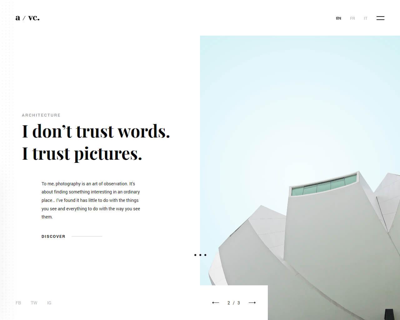Fotico Website Template