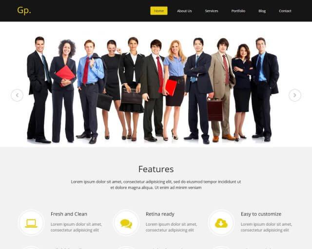 Gp - Free MultiPurpose HTML Bootstrap Template