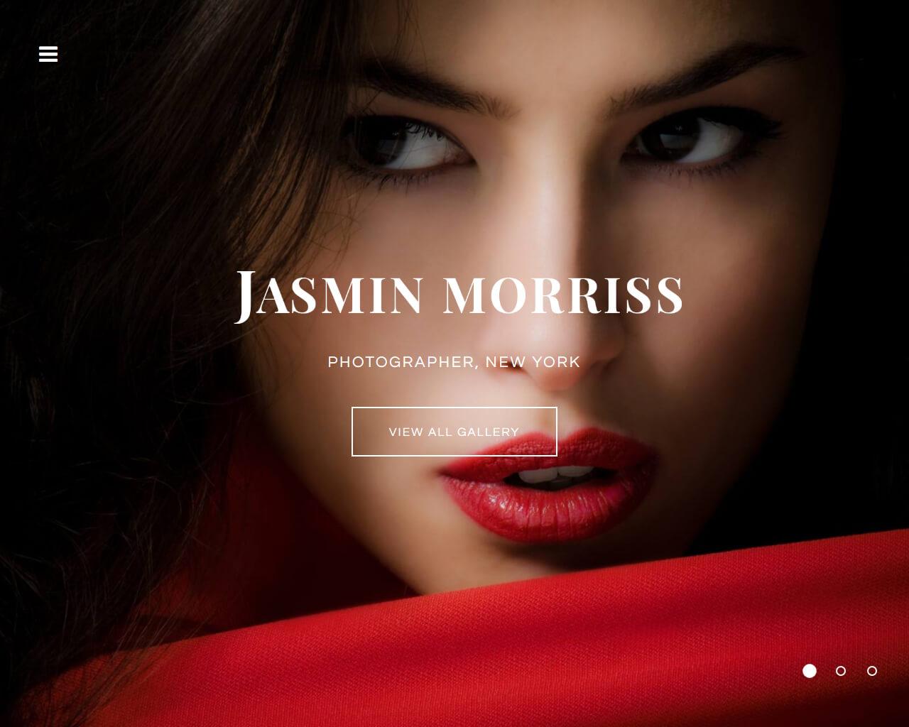 Jasmin Morris Website Template