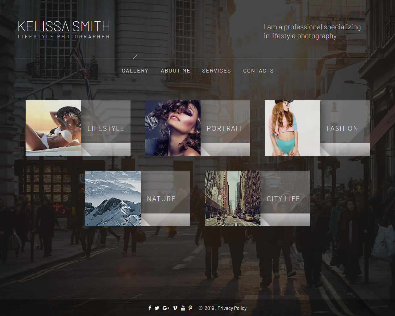 Kelissa Smith Website Template