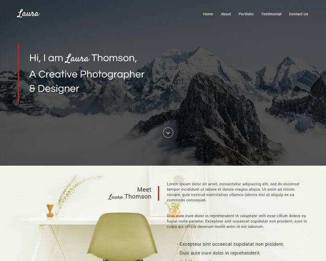 Laura Free Creative Bootstrap Theme