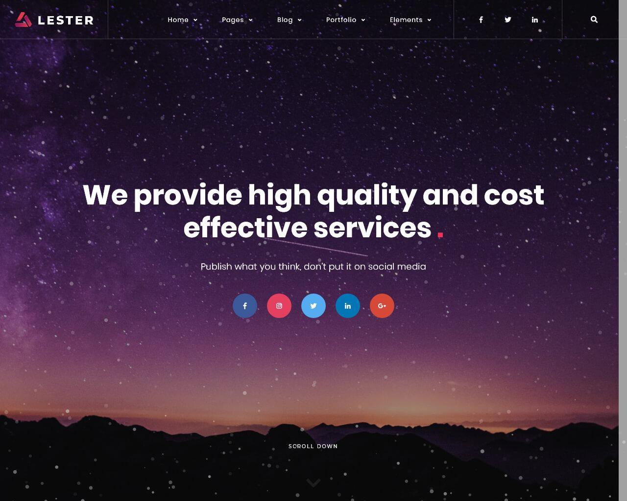 Lester Website Template