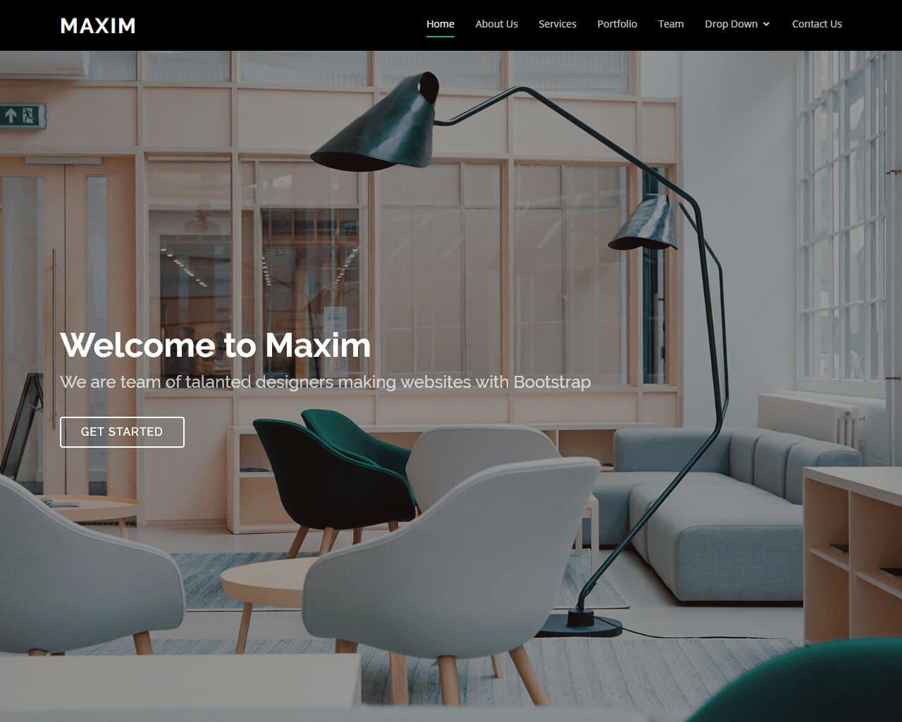 Maxim - Free Onepage Bootstrap Theme