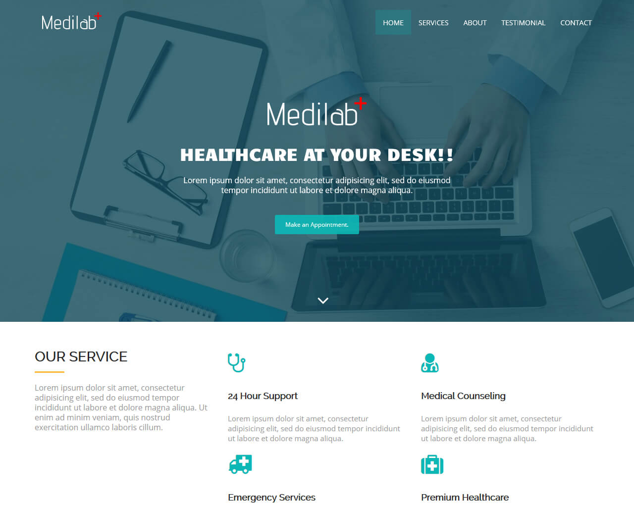 Medilab Free Medical Bootstrap Theme