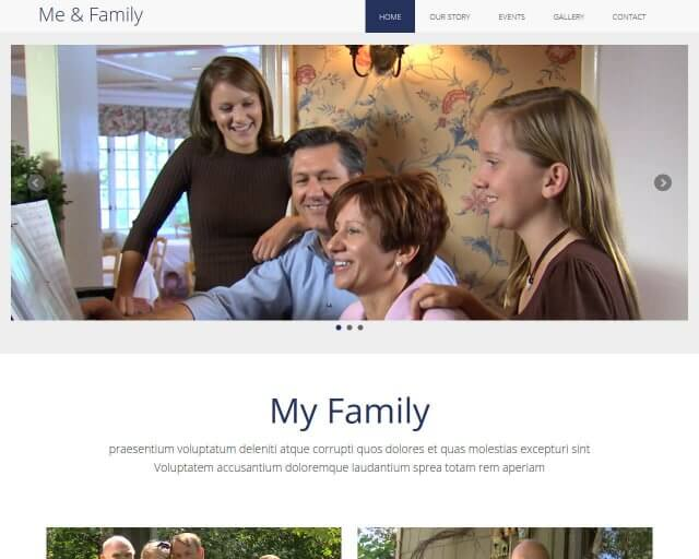 Me & Family - MultiPurpose HTML Bootstrap Template for Free