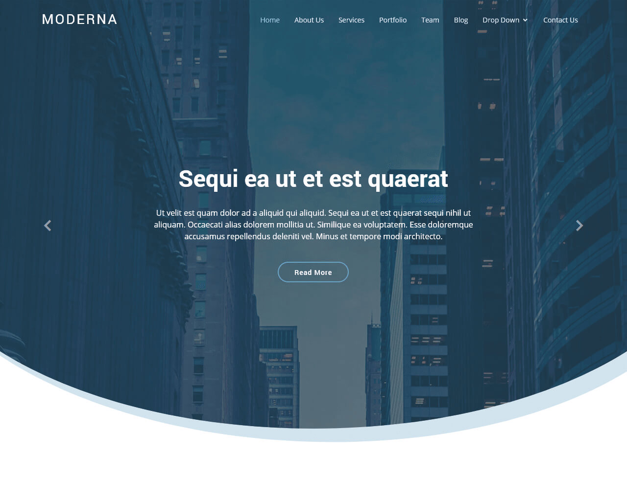 Free Bootstrap template for corporate - Moderna