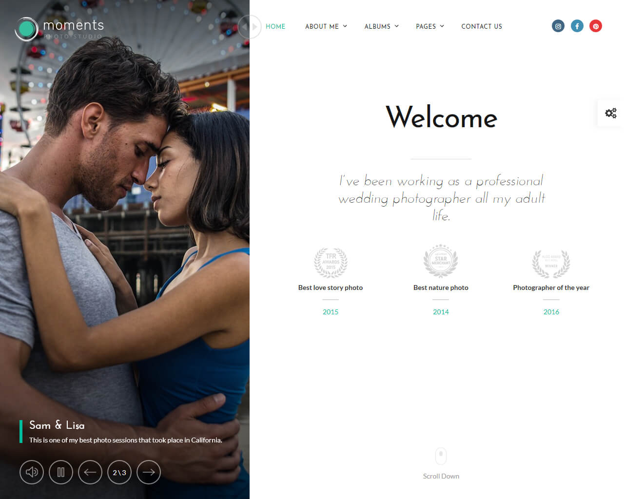 Moments Website Template