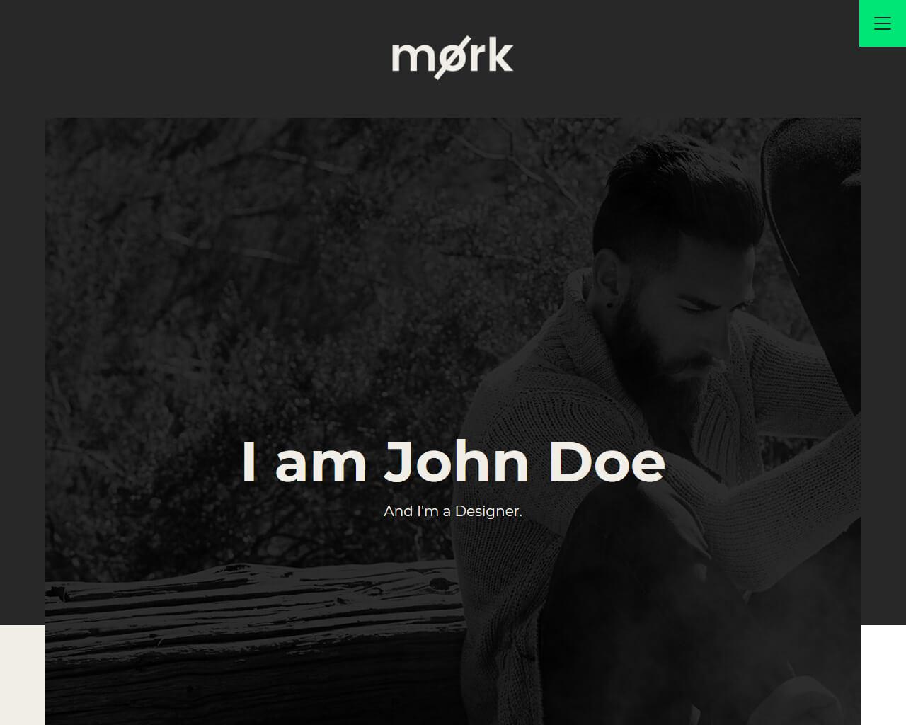 Mork Website Template