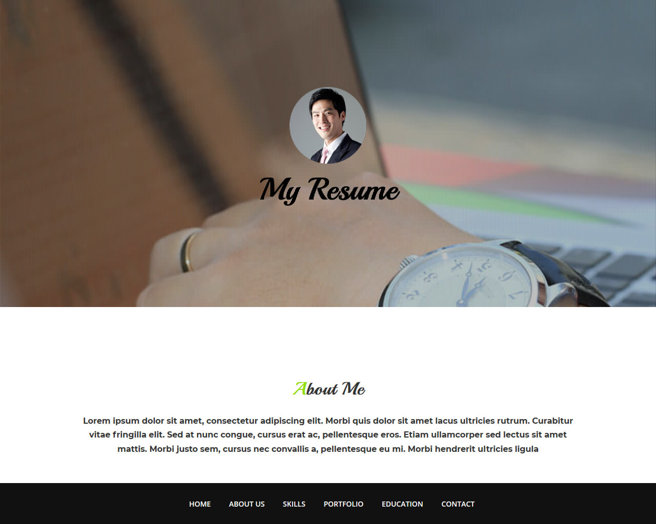 Free HTML bootstrap template - My Resume