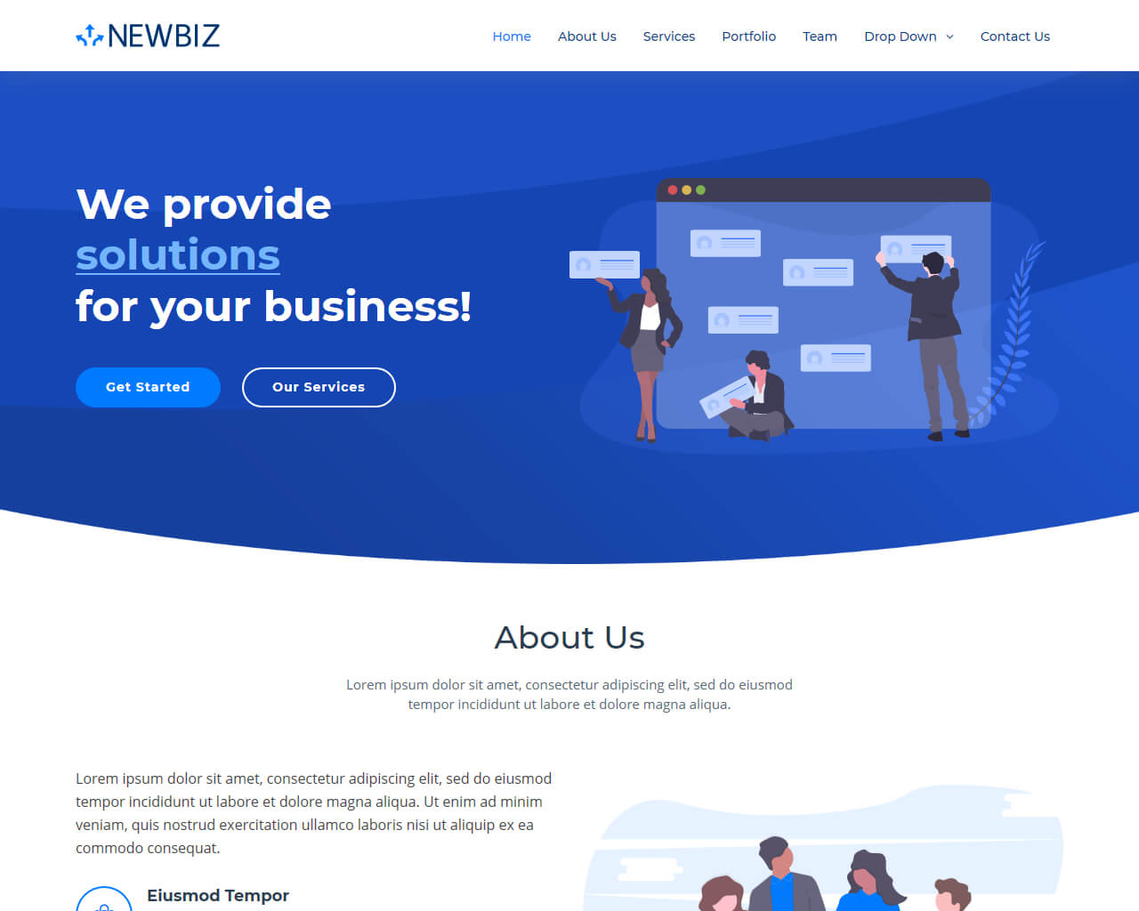 Newbiz bootstrap business html template bootstraptaste - Home design websites free ...
